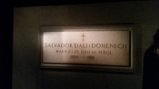 Dali is entombed here, in the museum he helped design.