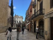 The quaint streets of Figueres, Spain.