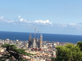 Sagrada Familia in the distance. You can get a feel for how massive it is from this vantage point.